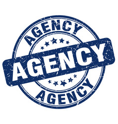 Agency blue grunge stamp vector