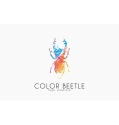 Beetle logo Color beetle logo design Creative vector image vector image