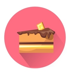 Cartoon dessert cake icon vector