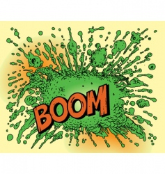 cartoon explosion vector image vector image