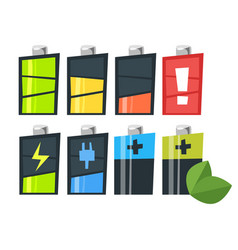 cartoon style set of batteries vector image
