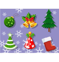 Christmas set of icons collection 3 vector image