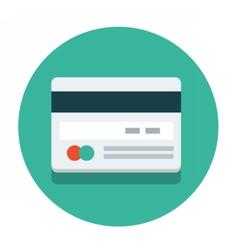 circle flat icon credit card vector image