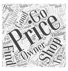 Finding bargains while shopping for antiques word vector
