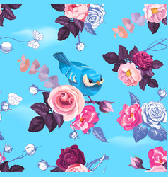 gorgeous seamless pattern with half-colored wild vector image vector image