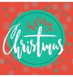 Green and red christmas background with christmas vector image