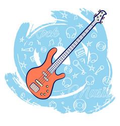 guitar rock music-01 vector image