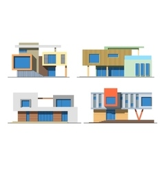 Houses 9 color vector image vector image