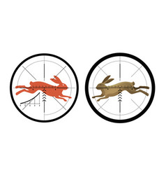 hunting icon reticle crosshair target symbol vector image