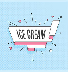 Ice cream retro design element in pop art style vector