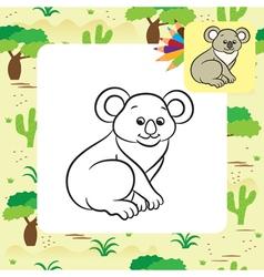 Koala coloring page vector