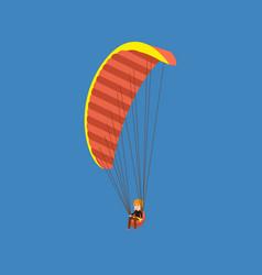 Man paragliding on a parachute descending vector