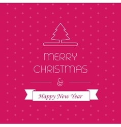 Merry christmass card greeting decor xmas vector