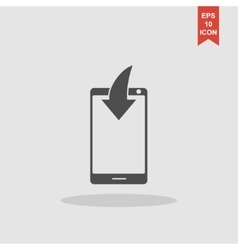 Mobile Phone Download Icon vector image