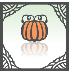 Outline pumpkin icon modern infographic logo and vector