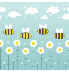 Pattern apiary vector