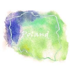 Poland watercolor map vector image vector image
