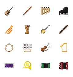 Set of 16 editable music icons includes symbols vector
