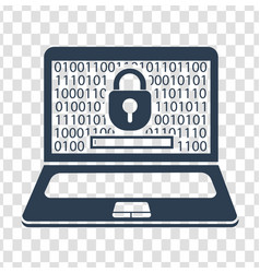 silhouette laptop security vector image vector image