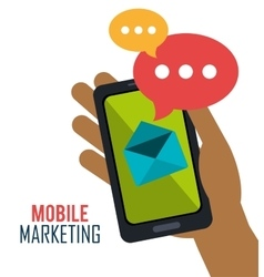 Smartphone mobile marketing email vector