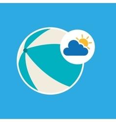 Summer vacation design beach ball icon vector