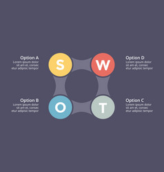 Swot analysis square metaball infographic vector