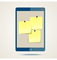 tablet and stickers vector image vector image