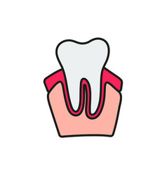 tooth icon on white background vector image