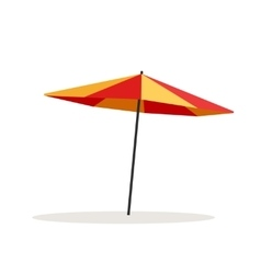 Umbrella beach isolated on vector image vector image