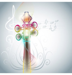violin backgorund vector image