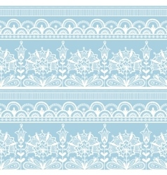 White seamless lace floral pattern vector image vector image