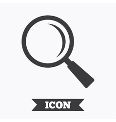 Magnifier glass sign icon zoom tool navigation vector