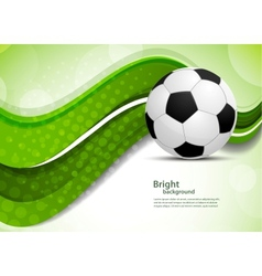 Green background with soccer ball vector