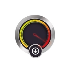 Gauge transportation kilometer speed icon vector