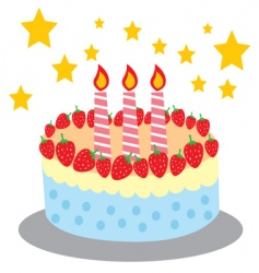 Cute and sweet birthday cake vector