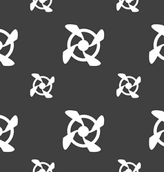 Fan Icon sign Seamless pattern on a gray vector image
