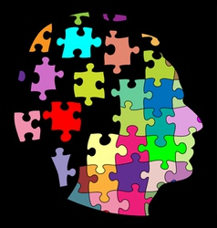 Puzzle man vector image