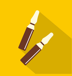 Iodine sticks icon flat style vector