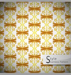 damask mesh gold bow ribbon vintage geometric vector image