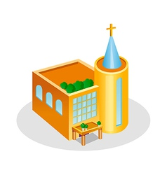 Icon church vector