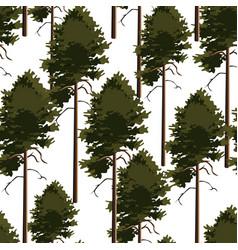 Seamless pattern tree pine vector