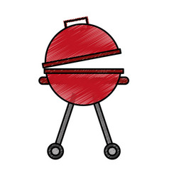 Grill silhouette isolated icon vector