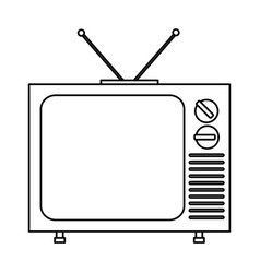 Retro television icon vector
