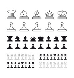 Chess set on white background vector