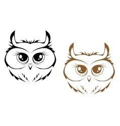 Owl heads vector image
