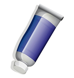 A topview of a blue tube vector