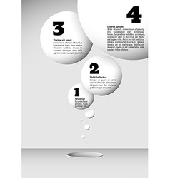 Infographics with growing flying balls vector