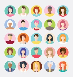 Big set of avatars profile pictures flat icons vector