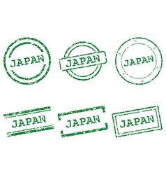 Japan stamps vector