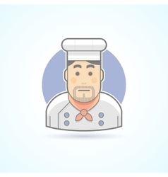 Chief cook icon avatar and person vector